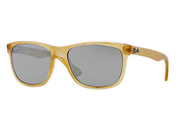 ray ban unisex honey and black wayfarer sunglasses  ray ban 0rb4181 rb4181 honey,yellow sun
