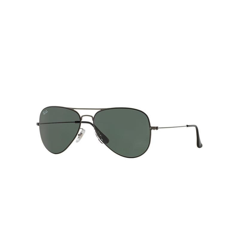 Ray-Ban Aviator Flat Metal Gunmetal Sunglasses, Green Lenses - Rb3513
