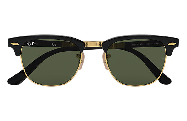 ray ban foldable clubmaster sunglasses  ray ban 0rb2176 clubmaster folding black sun