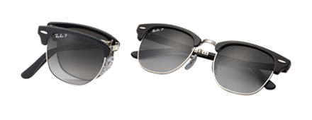 Ray-Ban CLUBMASTER FOLDING Black with Grey Gradient lens