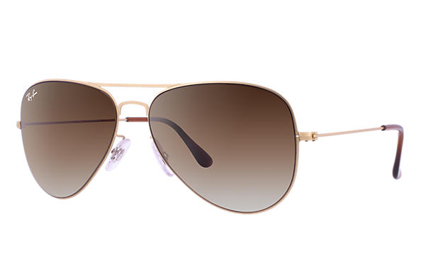 Ray-Ban 0RB3513-AVIATOR FLAT METAL Gold SUN
