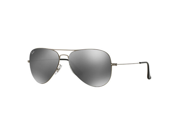 Ray-Ban 0RB3513-AVIATOR FLAT METAL Silver SUN