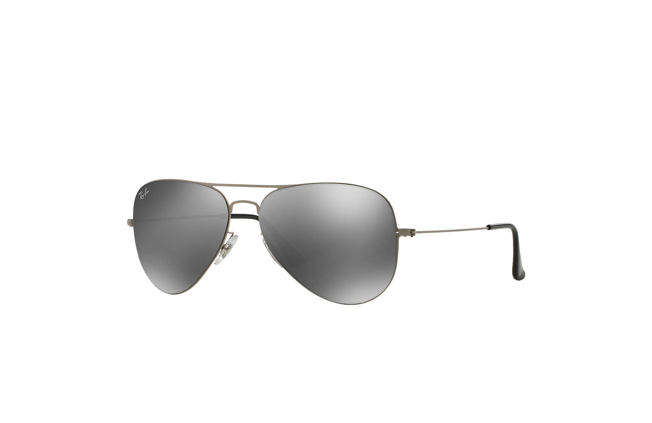 silver aviator sunglasses  Ray-Ban Aviator Flat Metal Silver, RB3513