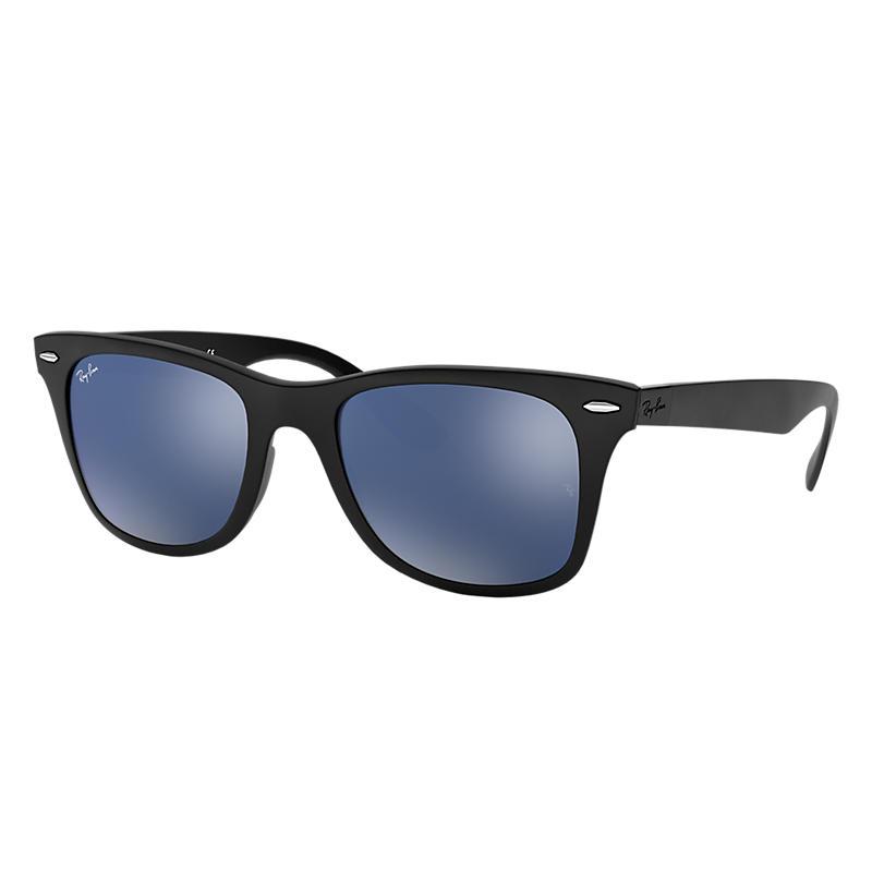 Ray-Ban Wayfarer Liteforce Black Sunglasses, Blue Lenses - Rb4195