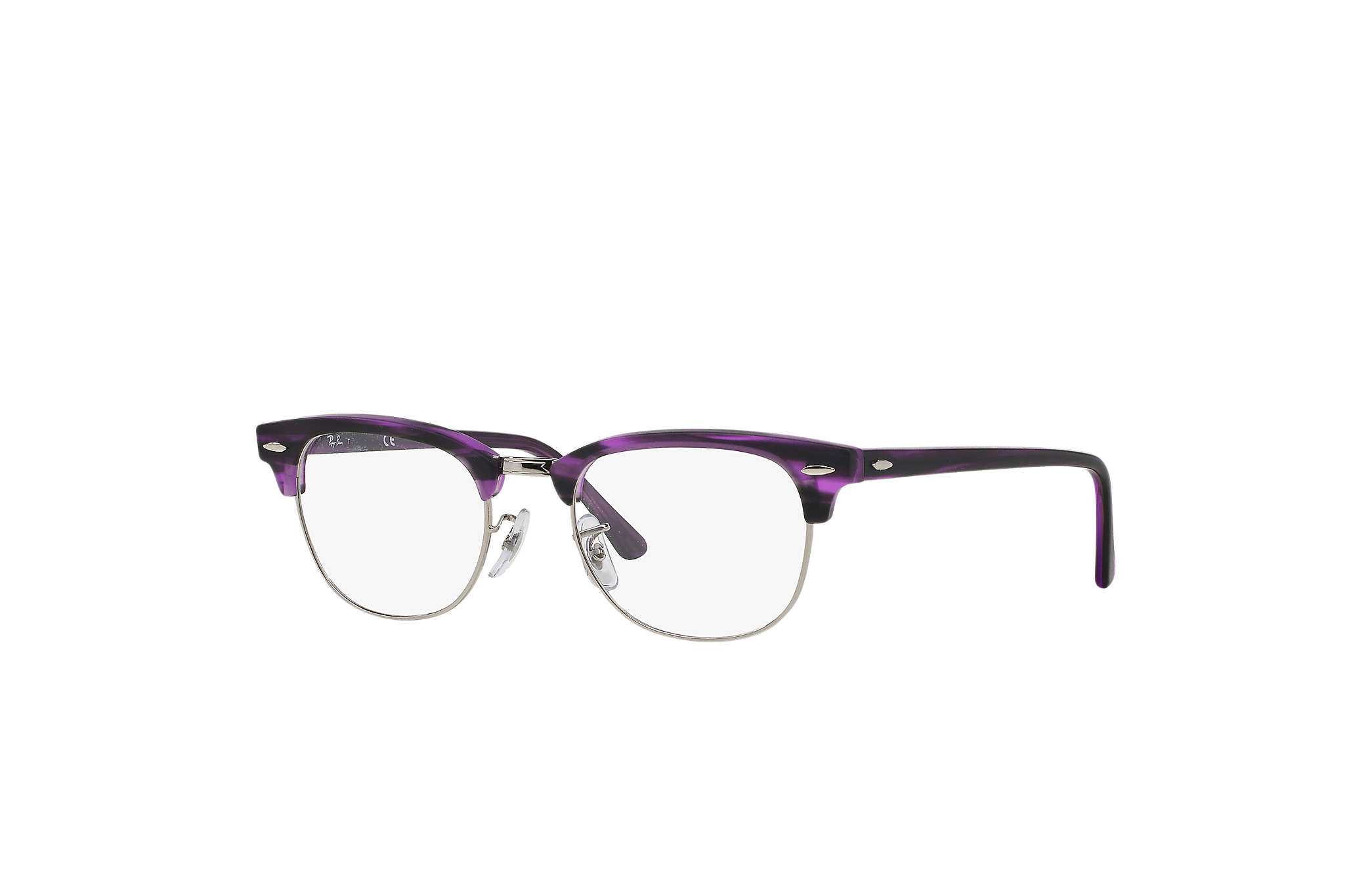 ray ban havana on violet new clubmaster sunglasses  ray ban 0rx5154 clubmaster optics violet optical