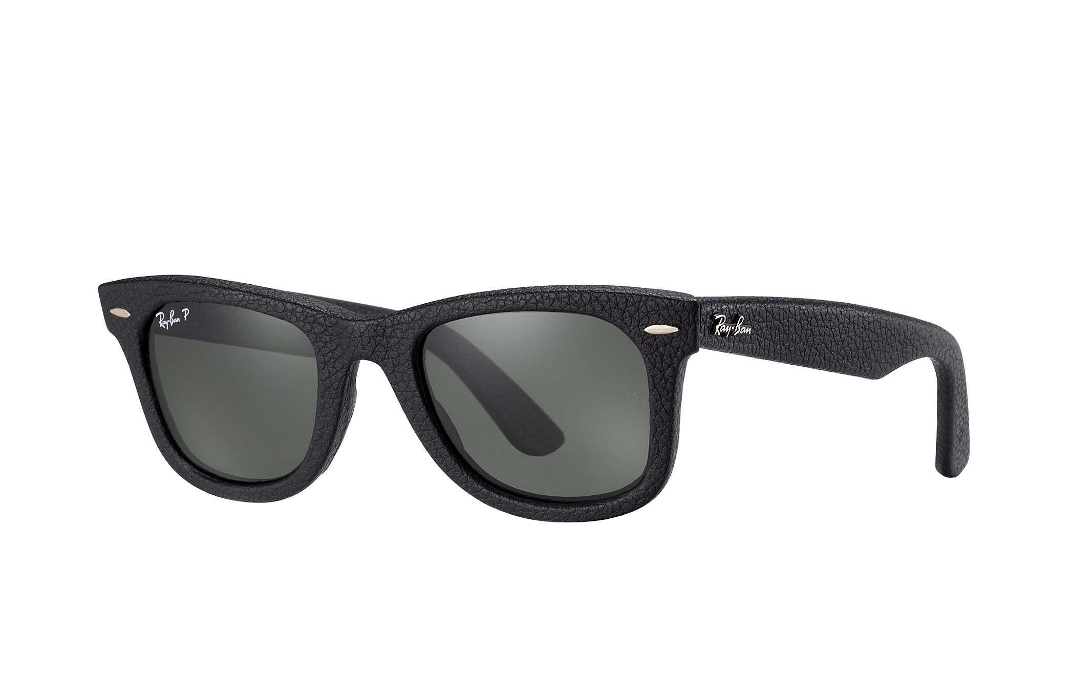 ray ban wayfarer sunglasses vision express  ray ban 0rb2140qm wayfarer leather black sun