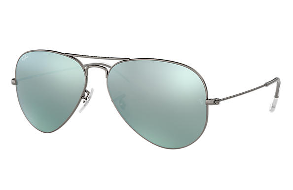 Ray-Ban 0RB3025-AVIATOR FLASH LENSES Gunmetal SUN