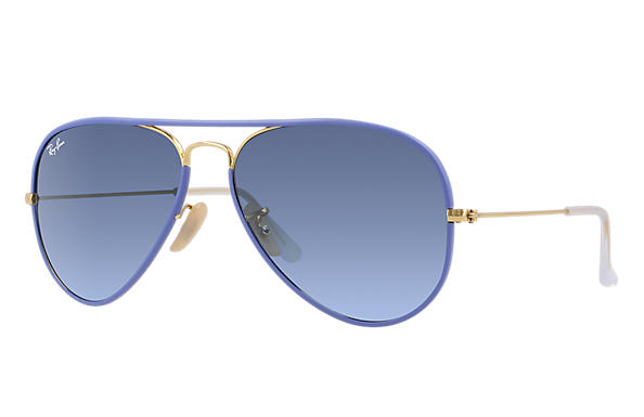 Ray-Ban 0RB3025JM-AVIATOR FULL COLOR Jasnoniebieski; Złoty SUN