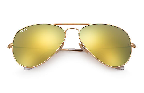 ray ban sunglasses yellow lenses  ray ban 0rb3025 aviator flash lenses gold sun