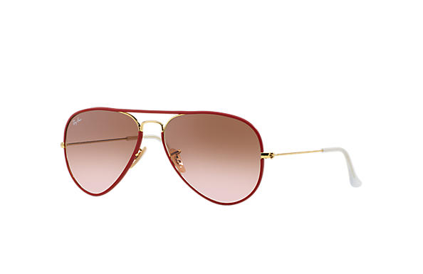 Ray-Ban 0RB3025JM-AVIATOR FULL COLOR Red; Gold SUN