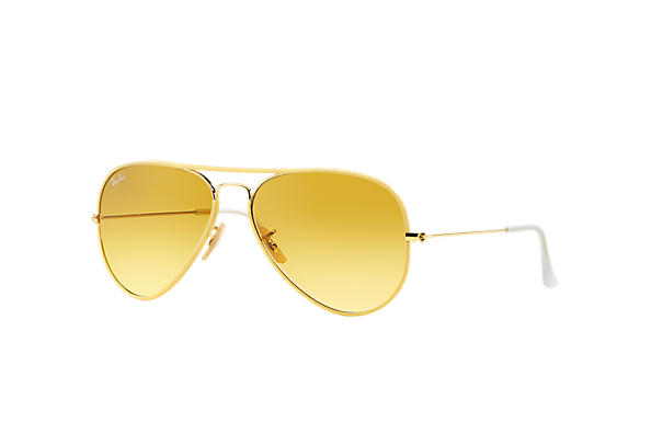 ray ban sunglasses yellow lenses  ray ban 0rb3025jm aviator full color yellow; gold sun