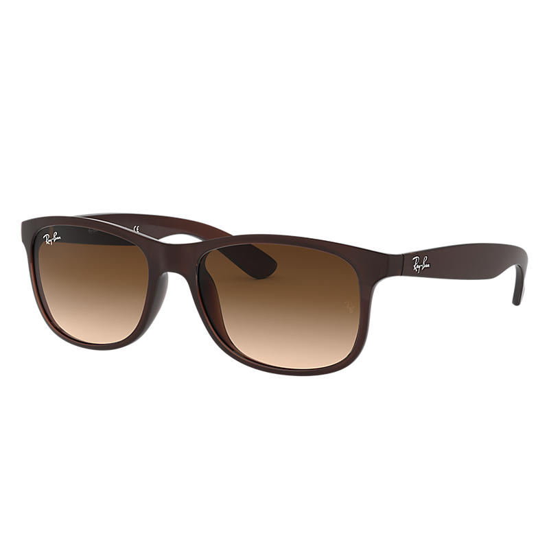 Ray-ban Mens Andy Brown Sunglasses, Brown Sunglasses Lenses Rb4202