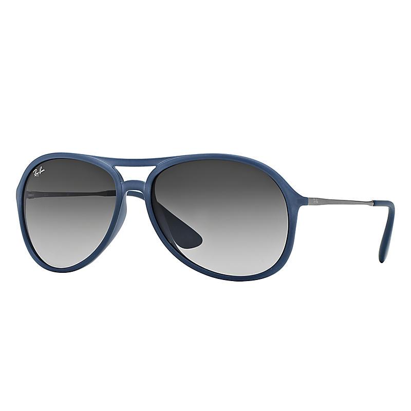 Image of Ray-Ban Alex Gunmetal Sunglasses, Gray Lenses - Rb4201