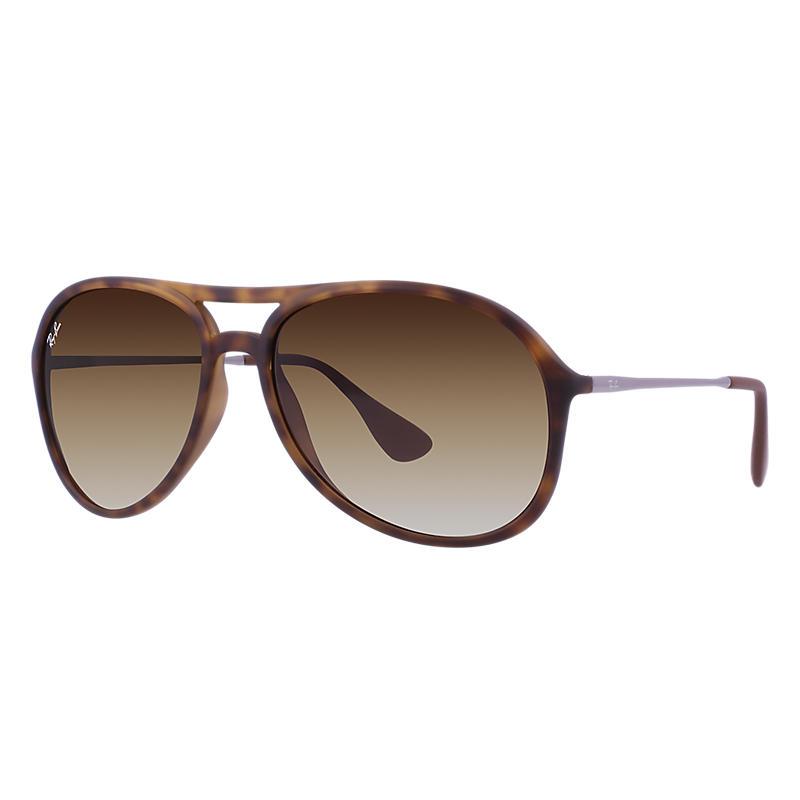 Image of Ray-Ban Alex Gunmetal Sunglasses, Brown Lenses - Rb4201