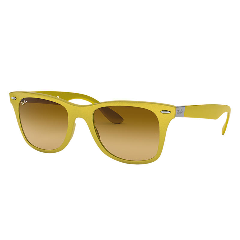 Ray-Ban Wayfarer Liteforce Yellow Sunglasses, Yellow Sunglasses Lenses - Rb4195
