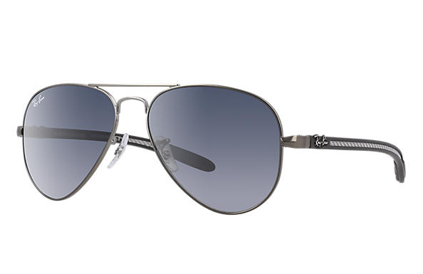 Ray-Ban 0RB8307-AVIATOR CARBON FIBRE Gun; Noir,Multicolor SUN