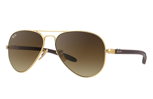 Ray-Ban 0RB8307-AVIATOR CARBON FIBRE Gold; Braun,Multicolor SUN