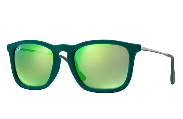 Ray-Ban 0RB4187-Chris Velvet Green Velvet,Green; Gunmetal SUN