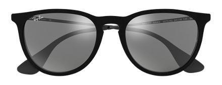 ray ban velvet round keyhole sunglasses  ray ban erika velvet black velvet with grey mirror lens