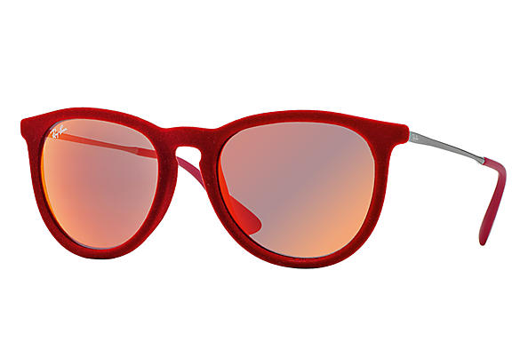 Ray-Ban 0RB4171-Erika Velvet Red; Gunmetal SUN