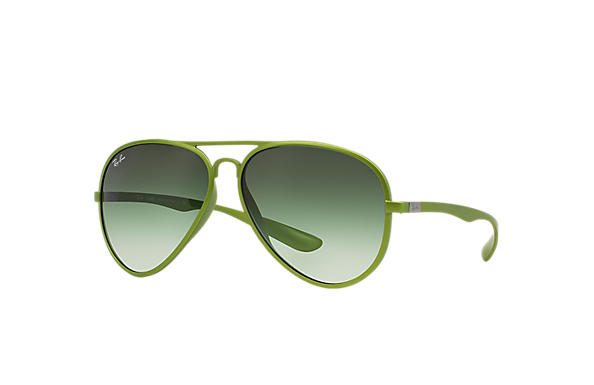 ray ban green polarized aviator  Ray-Ban Aviator Liteforce Light Blue, RB4180