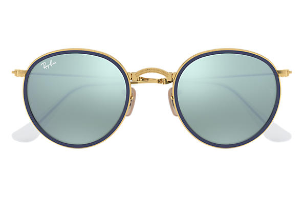 ray ban folding round sunglasses  ray ban 0rb3517 round folding gold sun