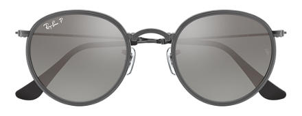 Ray-Ban ROUND FOLDING Gunmetal with Silver Gradient lens