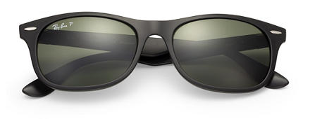 Ray-Ban New Wayfarer Liteforce Black with Green Classic G-15 lens