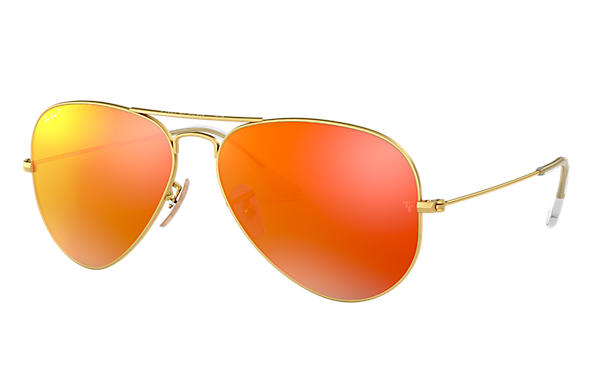 Ray-Ban 0RB3025-AVIATOR FLASH LENSES Goud SUN