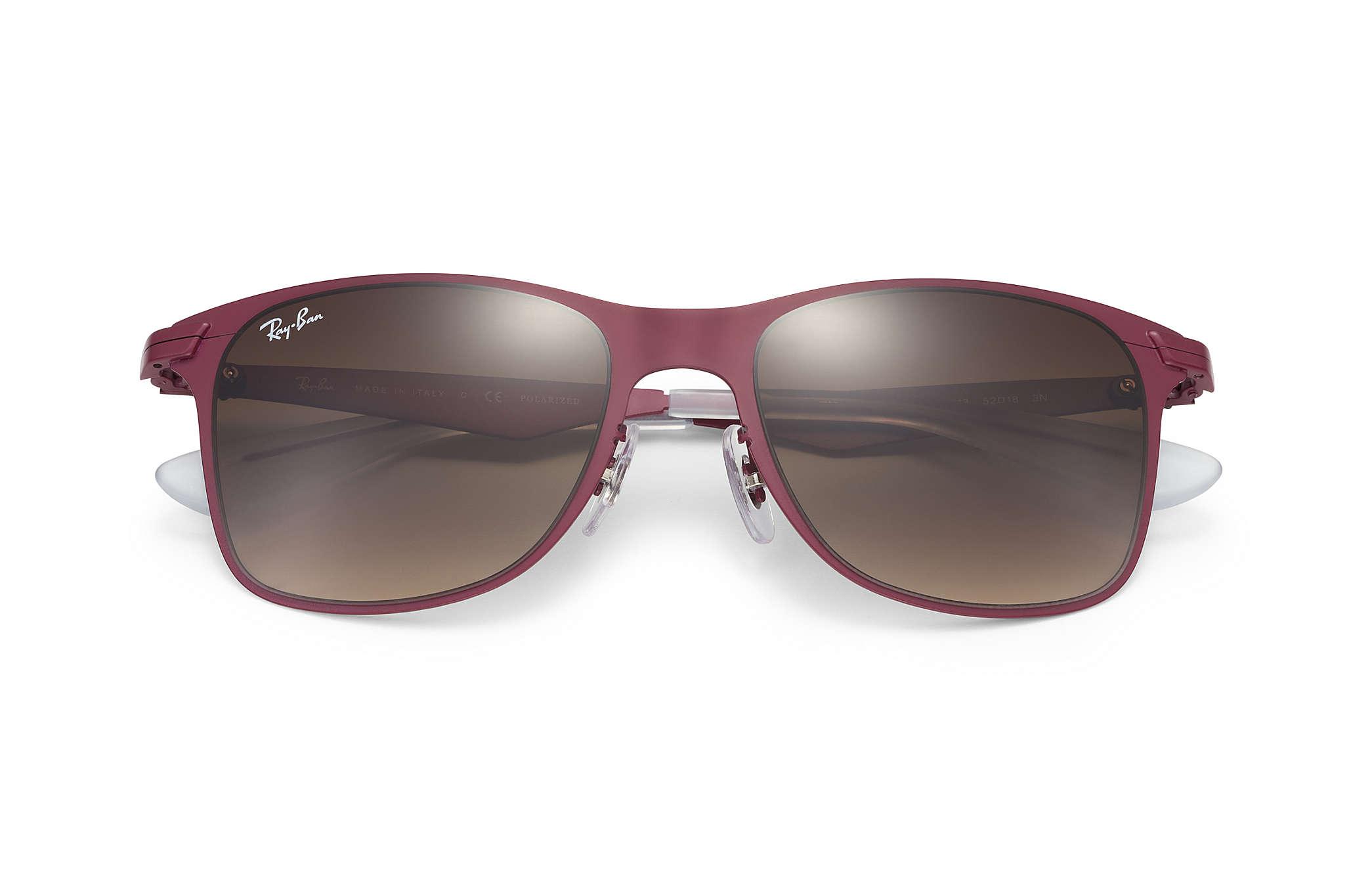 metal wayfarer sunglasses  Ray-Ban Wayfarer Flat Metal Red, RB3521