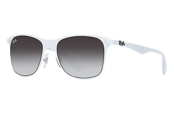 ray bans sunglasses white  ray ban 0rb3521 wayfarer flat metal white sun