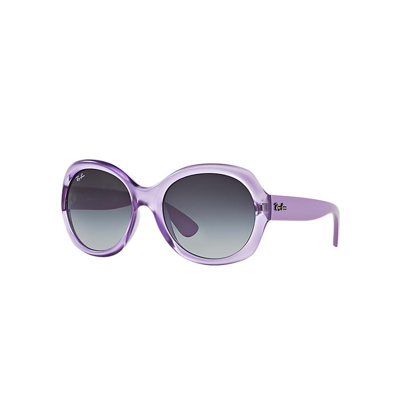 Ray-Ban Women's Purple Sunglasses, Gray Lenses - Rb4191