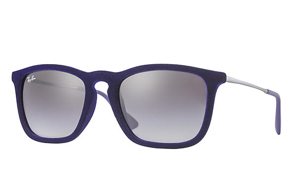 Ray-Ban 0RB4187-Chris Velvet Blue; Gunmetal SUN