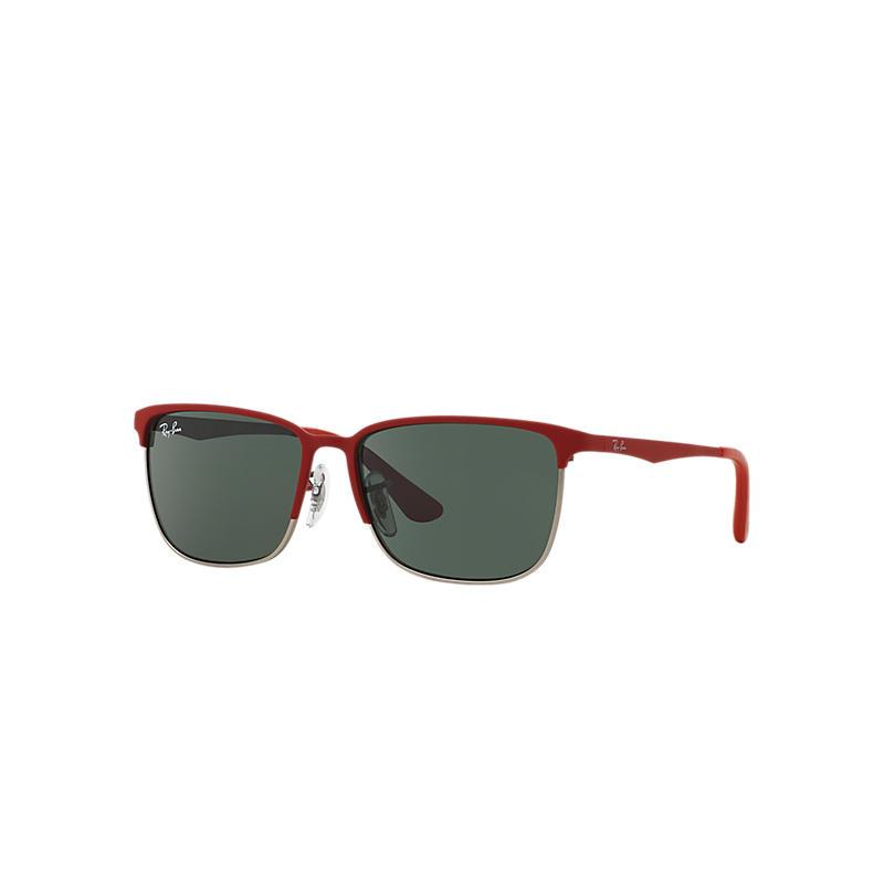 Ray-Ban Junior Red Sunglasses, Green Lenses - Rj9535s