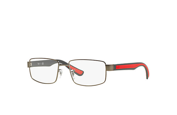 Ray-Ban 0RX6319-RB6319 Gunmetal; Red,Grey OPTICAL