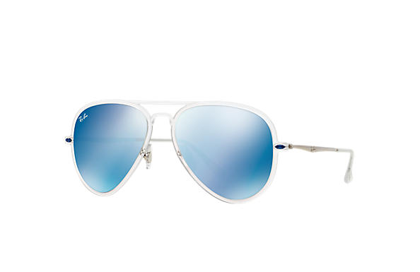 ray ban aviator blue glass  ray ban 0rb4211 aviator light ray ii transparent; silver sun