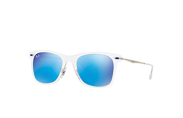 ray ban sunglasses clear frames  ray ban 0rb4210 wayfarer light ray transparent; silver sun