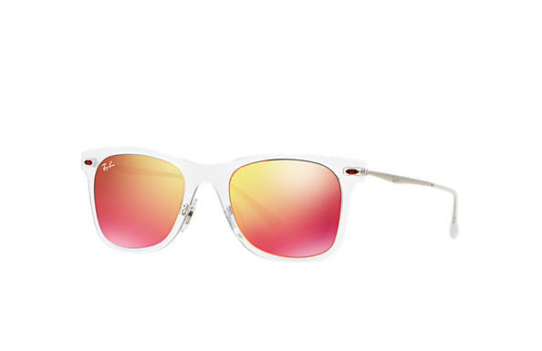Ray-Ban 0RB4210-WAYFARER LIGHT RAY Transparent; Silver SUN