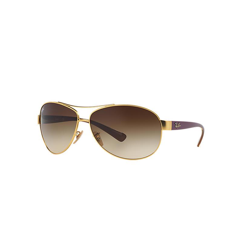 Ray-Ban Purple Sunglasses, Brown Lenses - Rb3386
