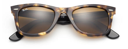 Ray-Ban ORIGINAL WAYFARER FLECK Tortoise with Brown Classic B-15 lens