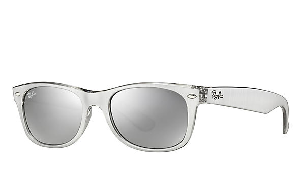 Ray-Ban 0RB2132-NEW WAYFARER COLOR MIX Silver,Transparent SUN
