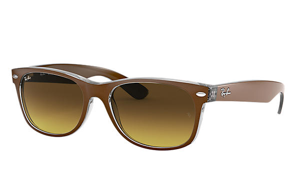 Ray-Ban 0RB2132-NEW WAYFARER COLOR MIX Marrón,Transparente SUN