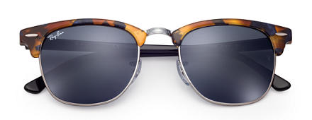 Ray-Ban CLUBMASTER FLECK Tortoise with Blue/Gray Classic lens