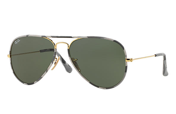 Ray-Ban 0RB3025JM-AVIATOR FULL COLOR Multicolor; Or SUN
