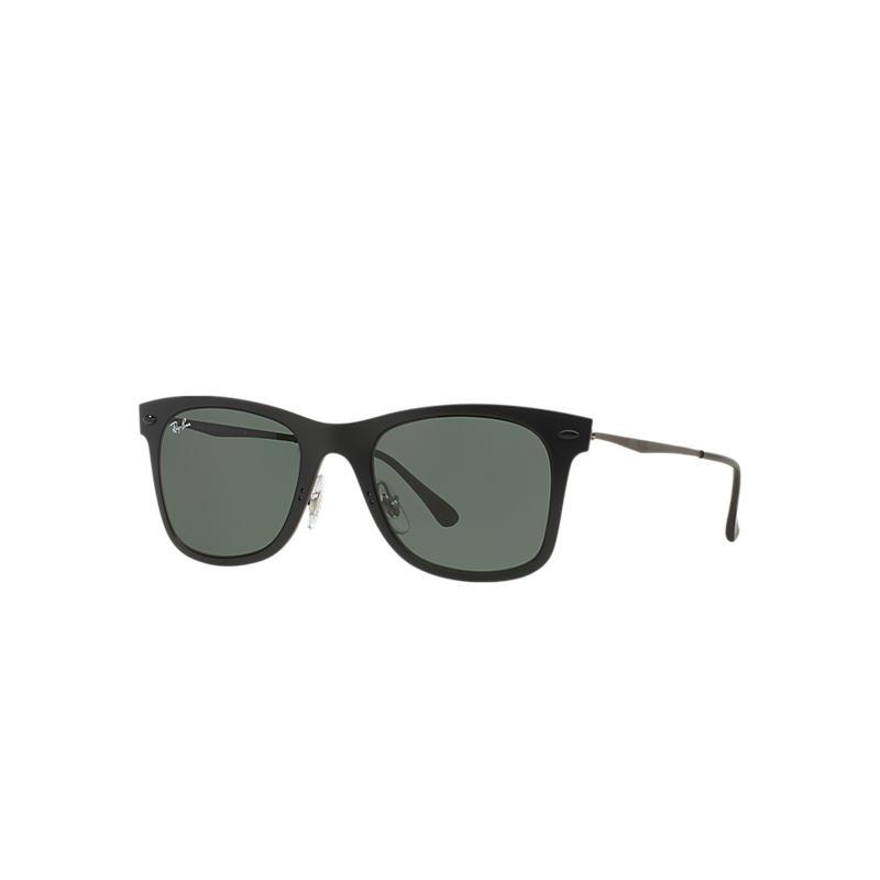 Ray-Ban Wayfarer Light Ray Silver Sunglasses, Red Lenses - Rb4210 8053672301205