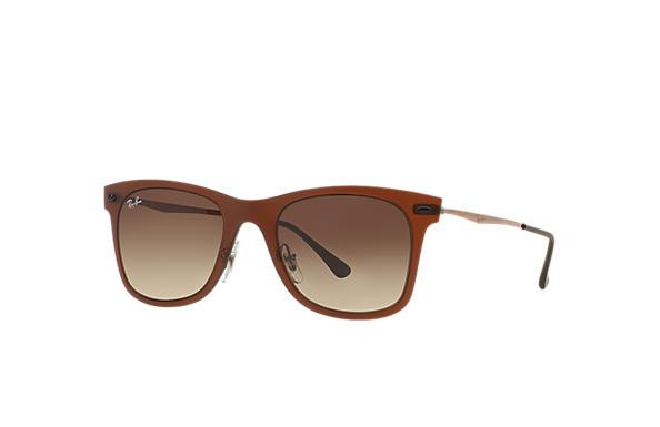 transparent ray ban glasses  ray ban 0rb4210 wayfarer light ray brown sun