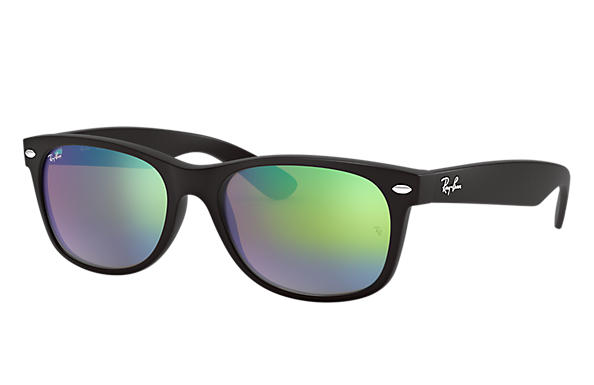 large frame ray ban wayfarer  Ray-Ban New Wayfarer Flash Black, RB2132