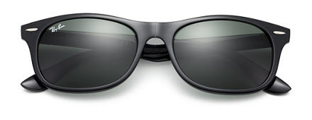 Ray-Ban New Wayfarer Folding Liteforce Black with Green Classic lens