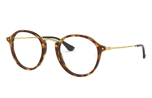 Ray-Ban 0RX2447V-ROUND FLECK Tortoise; Gold OPTICAL