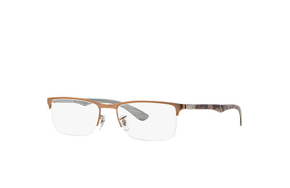 Ray-Ban 0RX8413-RB8413 Light Brown; Gold OPTICAL